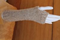 Guanti senza dita realizzati con la fibra di Baby Alpaca